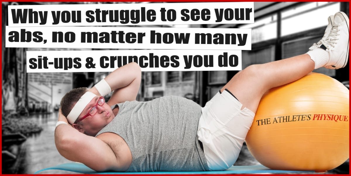 why sit ups dont help lose weight